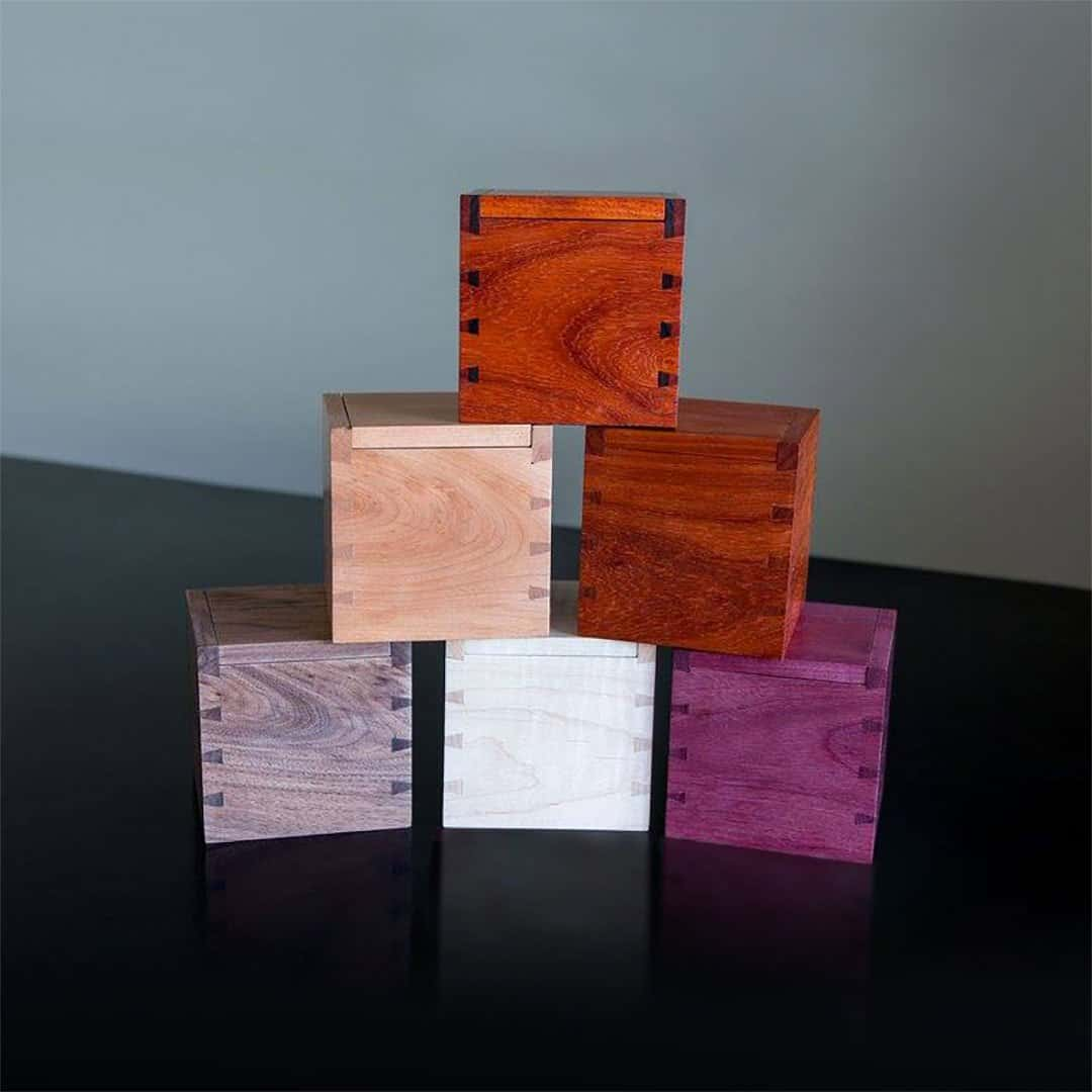 Handmade exotic wood boxes by David Ryan Scott
