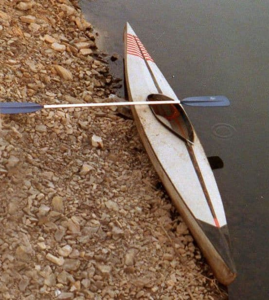 The kayak David built as a kid with Dad circa 1983