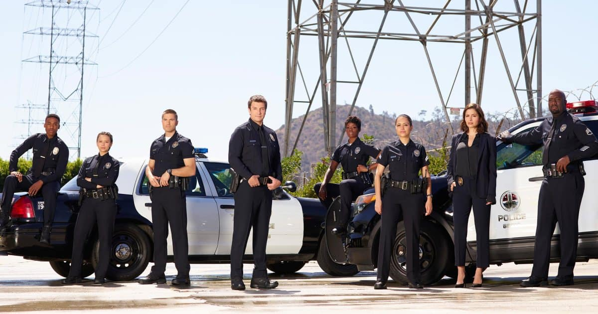 Lead cast of The Rookie on ABC