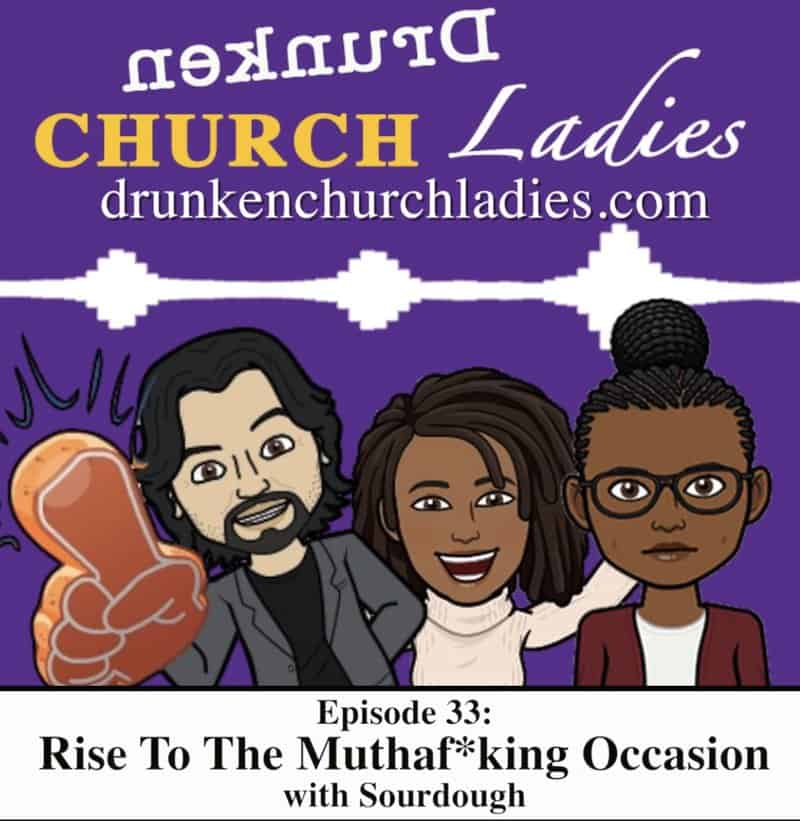 "Karen Frost has a podcast called ""Drunken Church Ladies"""