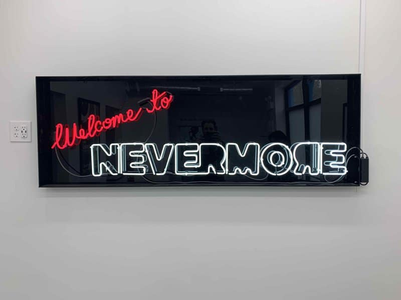 welcome sign at nevermore