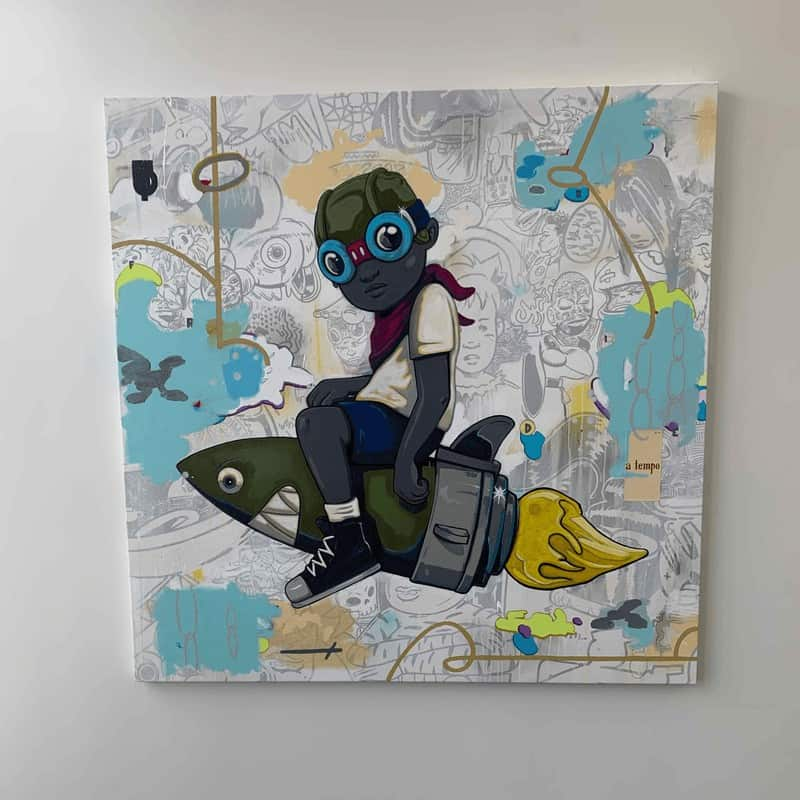 flyboy painting by hebru brantley