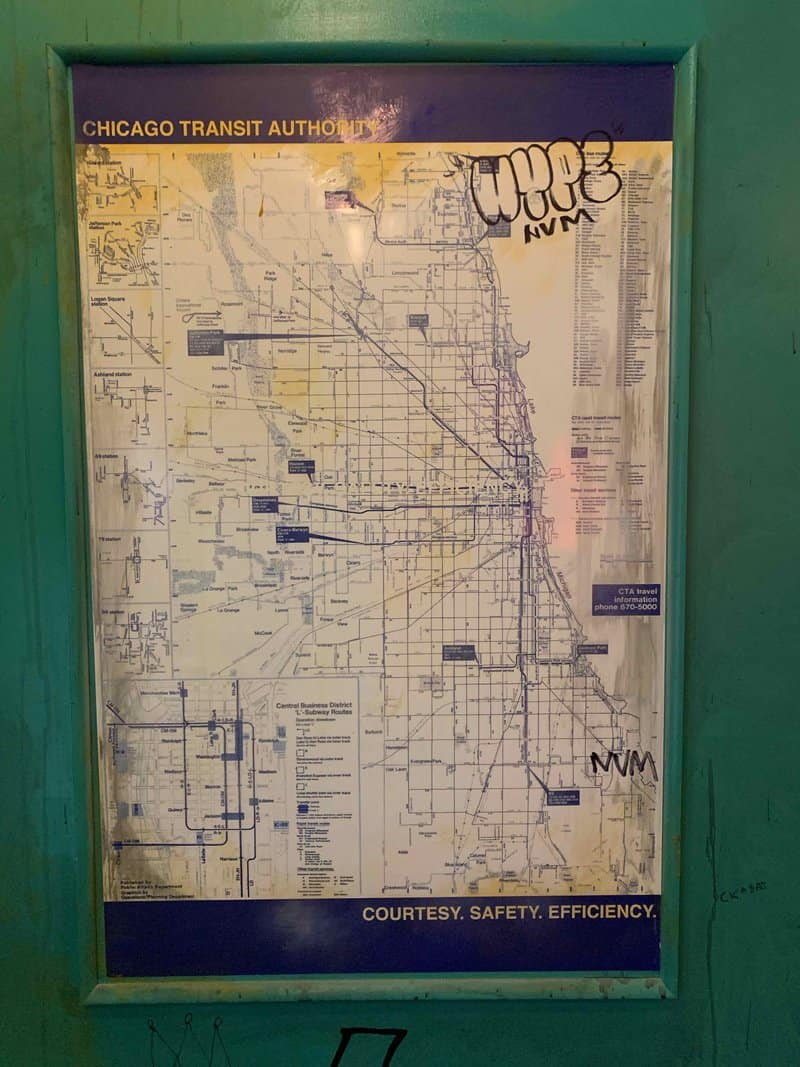 old CTA map