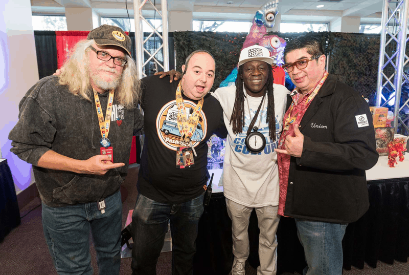 Ben with ron english and flavor flav