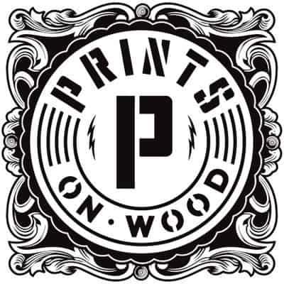 prints on wood logo