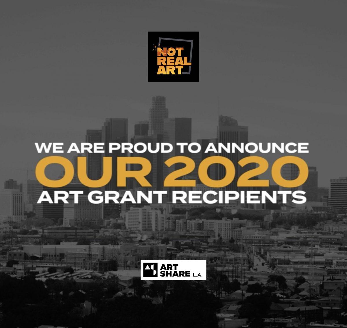 NOT REAL ART Announces Its 2020 Grant Recipients: Breaking News