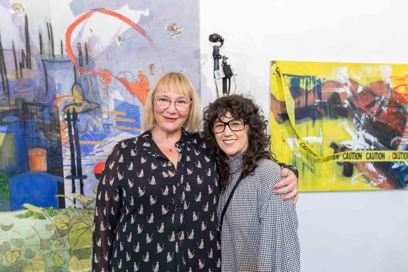 Cheyanne Sauter with Art Share board member and art publicist Heidi Johnson