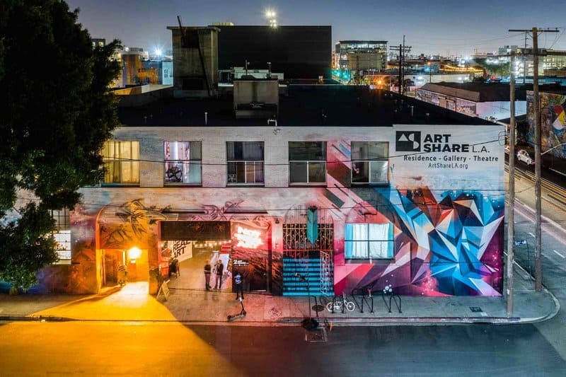 Art Share LA located in the Arts District, downtown Los Angeles