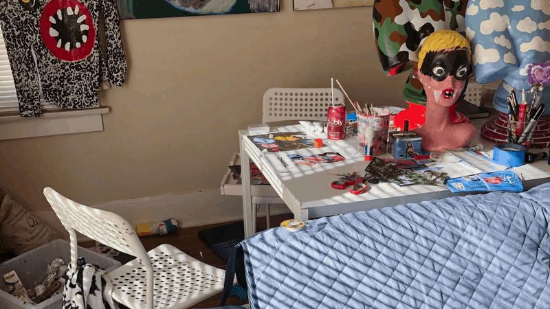 Rachel's home art studio