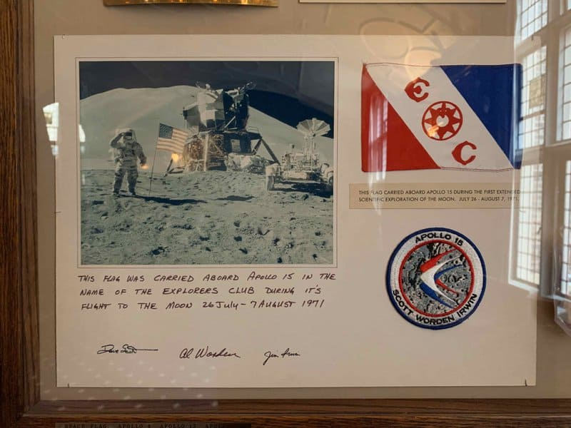 Club carried to the first moon landing