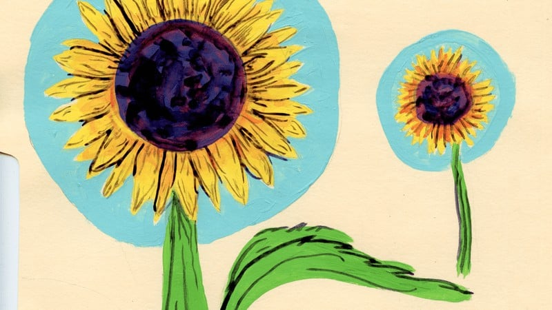 Paintings inspired by Cheyne Ellet's Sunflowers