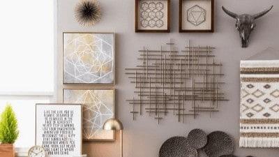 Mass produced wall decor items.