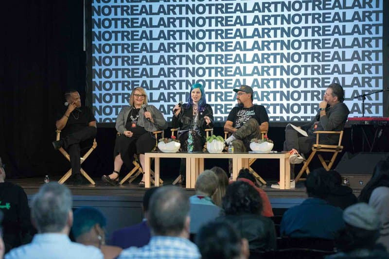 Teaching the business of art at the 2019 Not Real Art Conference for Creators in Los Angeles