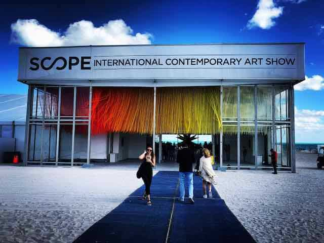 Scope Contemporary Art Show in Miami during Art Basel 2018.
