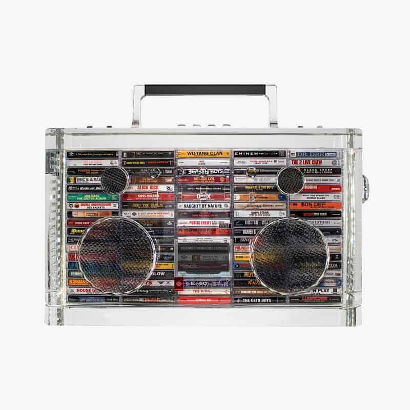 Rhyme Capsule Crystal Boombox by David Schwartz