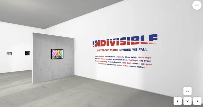 Indivisible 2020 3D Virtual Art Gallery Exhibition