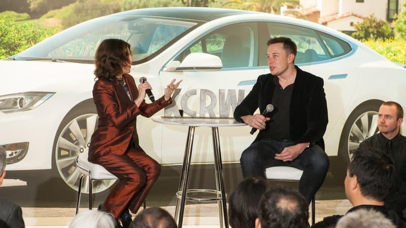 Frances with Elon Musk
