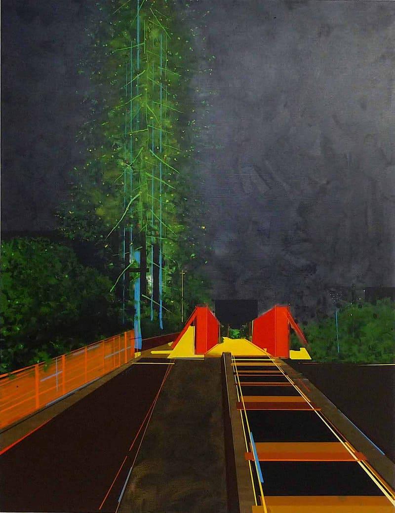 Painter Dimitri Kozyrev paints deconstructed environments in his 'Lost Landscapes' series.