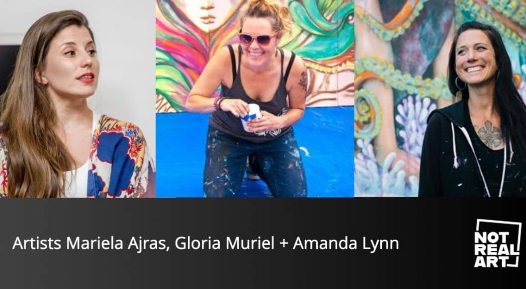 Artists Mariela Arjas, Gloria Muriel and Amanda Lynn