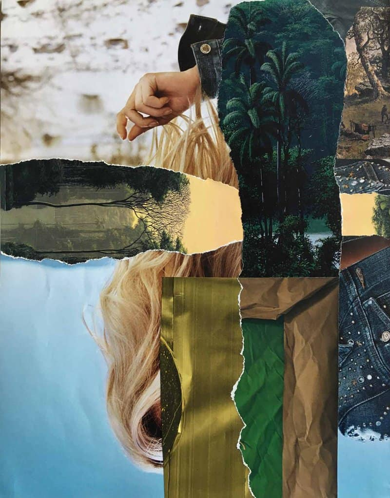 Mixed media artist Raphaele Cohen-Bacry explores the narrative potential of abstracted shapes in her poetic collages.