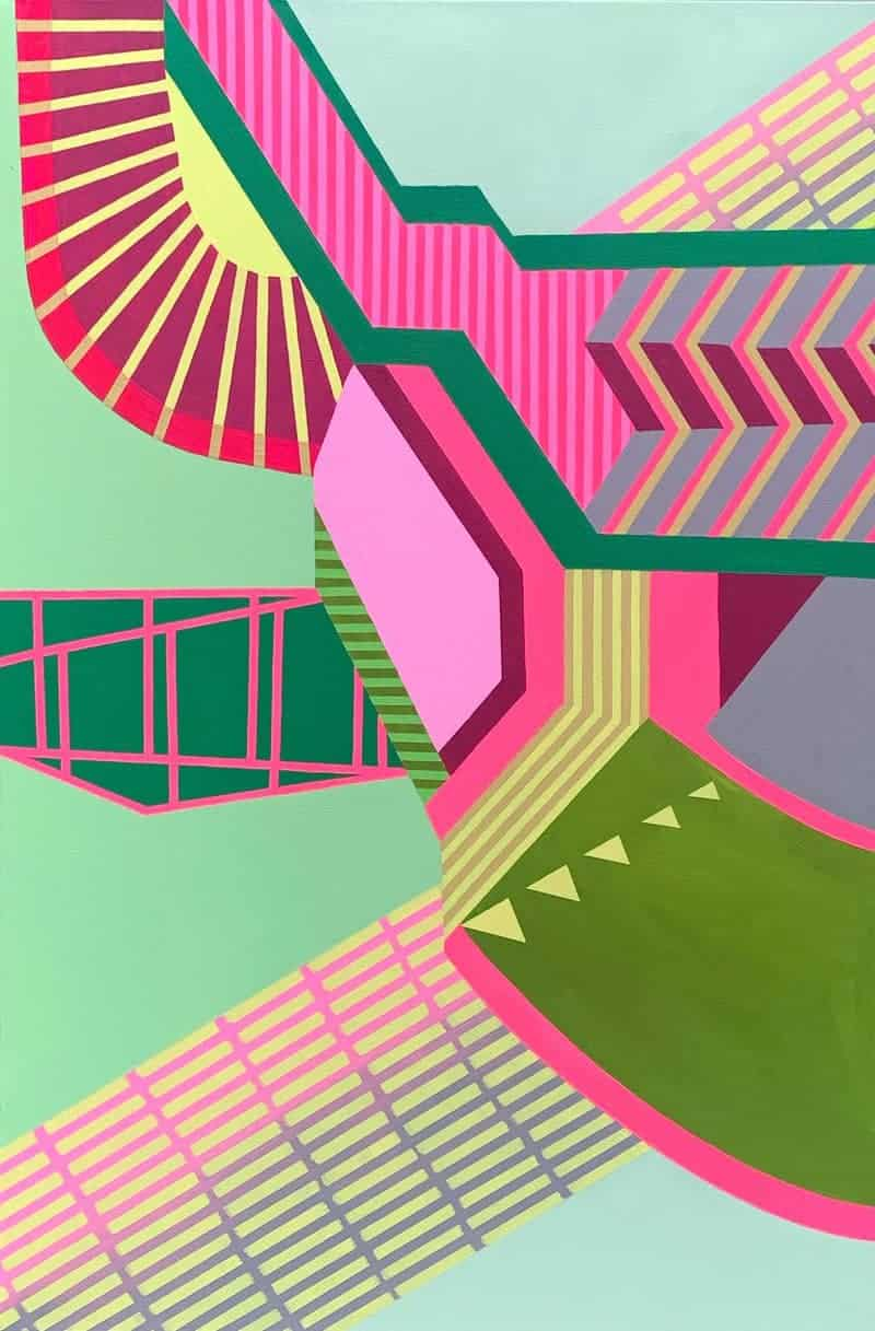 Philadelphia-based artist Jennifer Small reinterprets the tedium of everyday routine as mesmerizing fluorescent paintings.