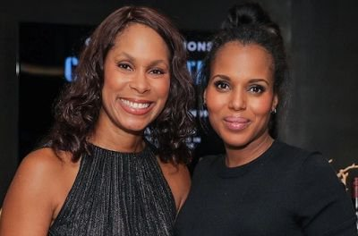 Channing Dungey with Kerry Washington