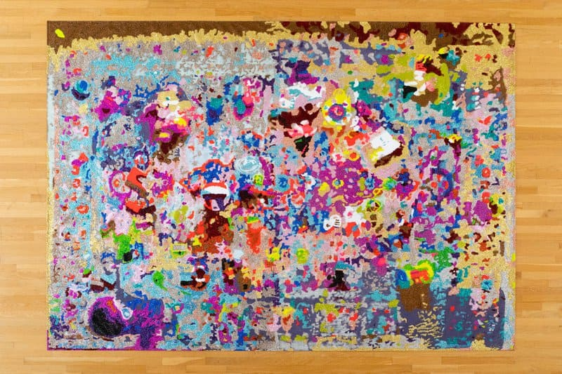 Artist Amy Reidel creates glittery paintings, drawings, and sculptures that belie the bloody and often brutal business of being a mother.
