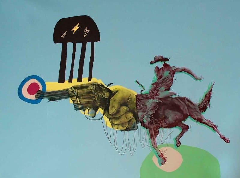 Presenting familiar images in unfamiliar ways, artist Dan Monteavaro mines mass media for his enigmatic creations.