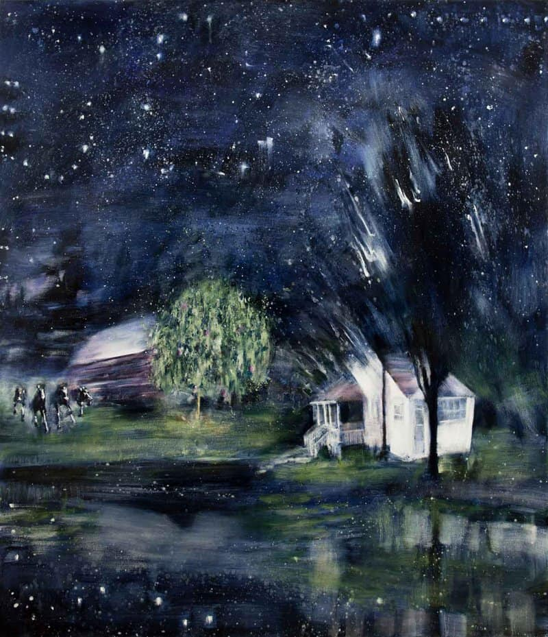 Artist Neil McClelland's childhood home, a family-operated farm in the Gatineau Hills of Quebec, is the inspiration for the painter's latest body of moody work.