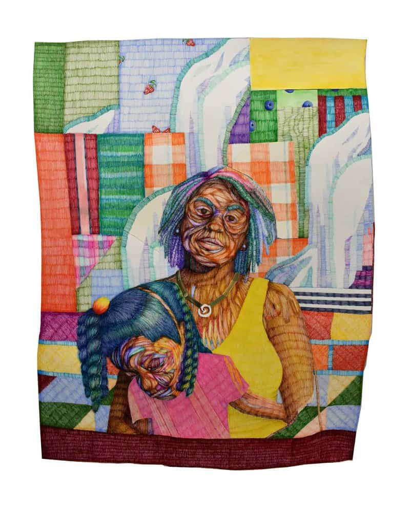 Michael Booker's Godspeed series takes inspiration from the practice of using quilts as guideposts along the Underground Railroad.