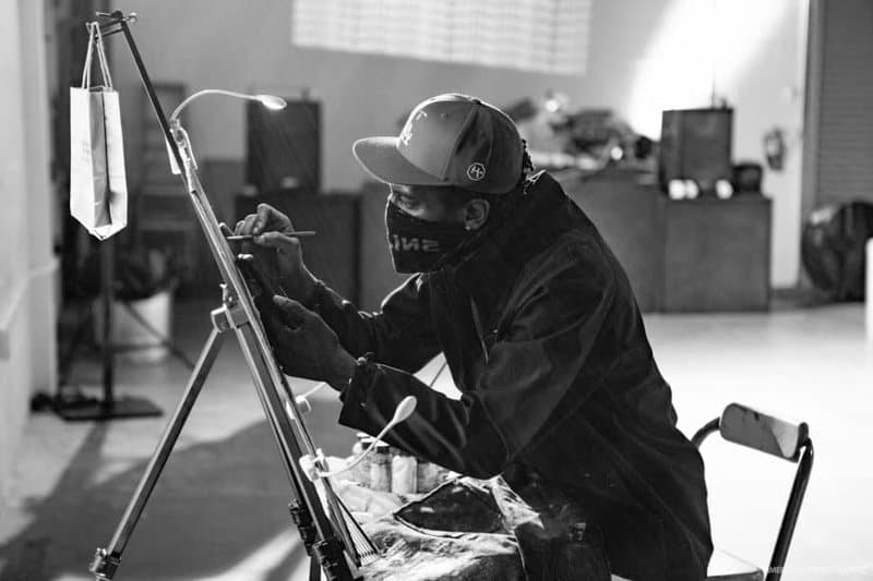 ShowzArt aka The Art Jedi painting live at a NOT REAL ART Party in 2019
