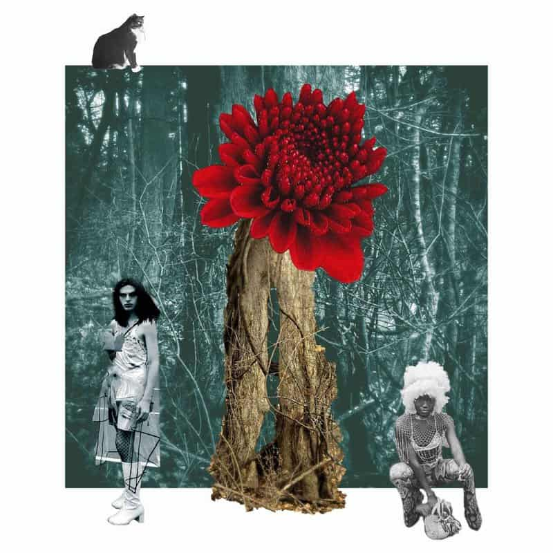 Artist Cari Marvelli repurposes her old photographs into eclectic digital collages that capture the artist's shifting moods and identities.