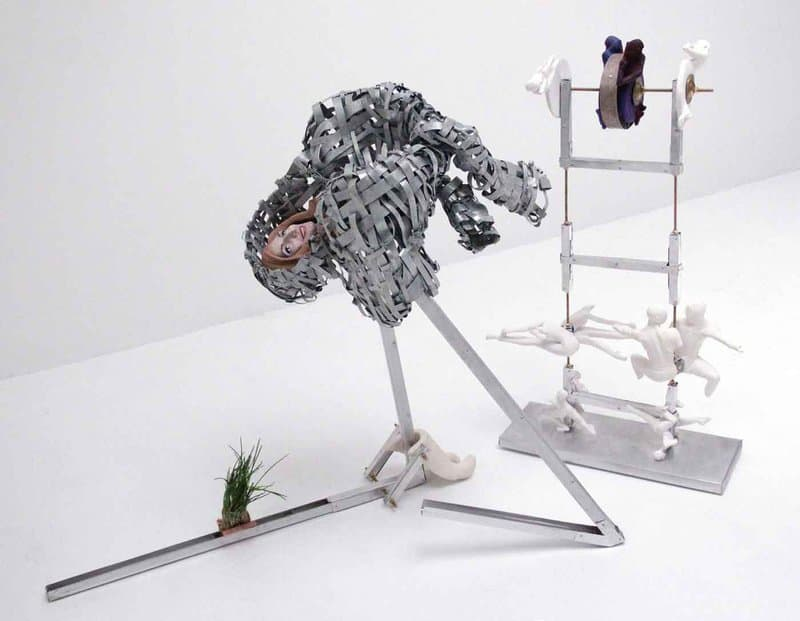 French artist Marie Aimee Fattouche creates anthropomorphic metal sculptures that walk a fine line between minor dysfunction and total breakdown.