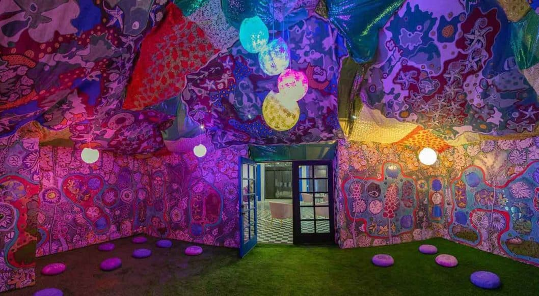 Q+Art: Laurie Shapiro Revists the Flower Child Era with Psychedelic Installations
