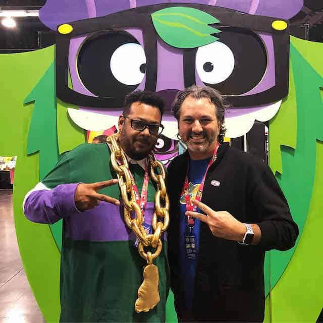 Roy Miles in 2019 at DesignerCon with Sourdough Power