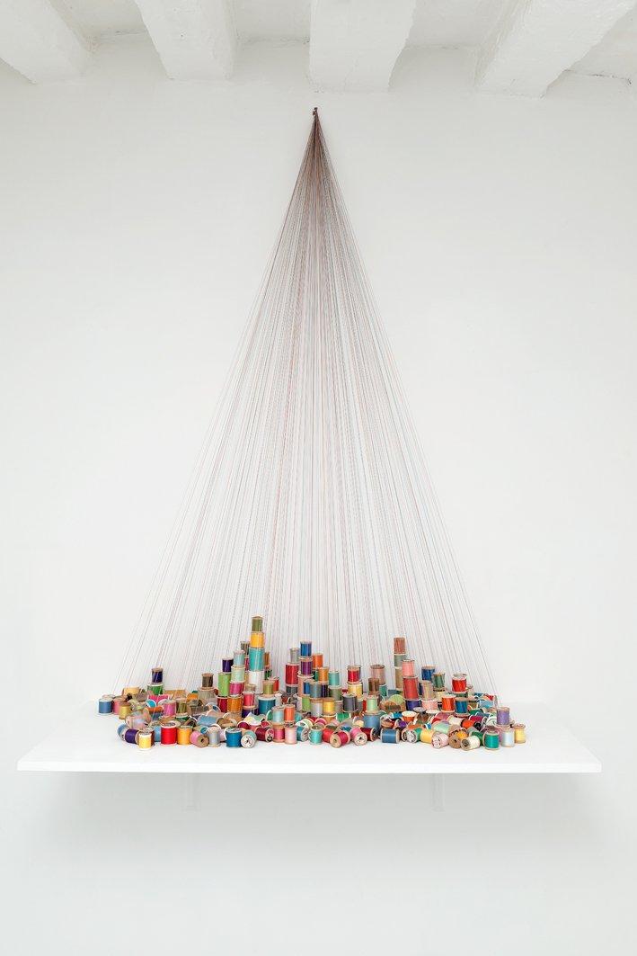 Colorial' 2014, 300 thread spools by Natalia Villanueva Linares