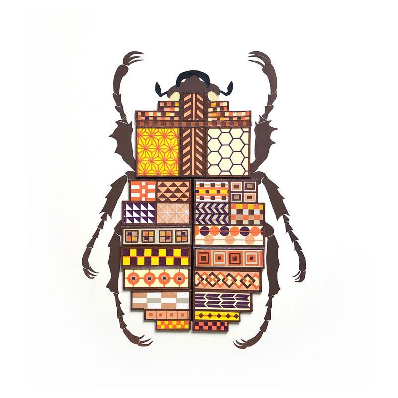 Chiho Harazaki. Yosegi Beetle