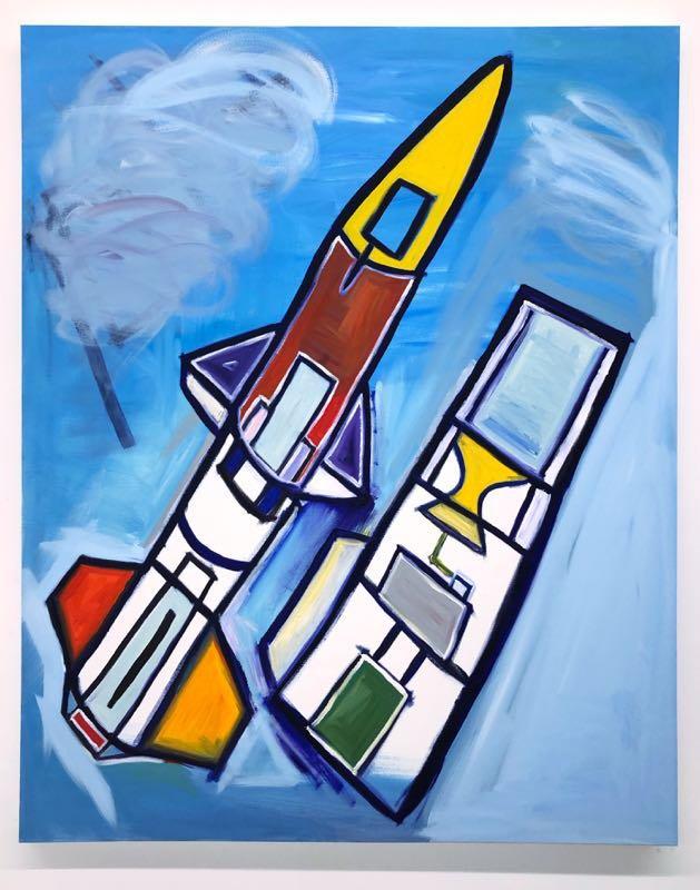 David Roy. Osiris (Interstage Coupler), 2021. Oil on canvas