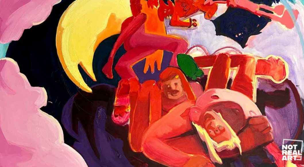 Q+Art: Lydia Crouse's Demon-Filled Paintings Rewrite the Absurdity of Human Existence