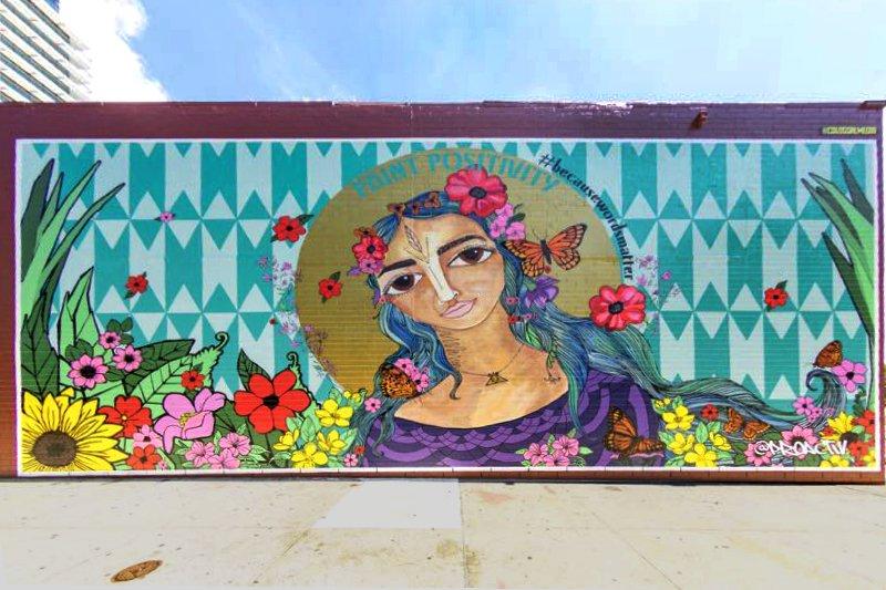 Alice Mizrachi, Paint Positivity Mural