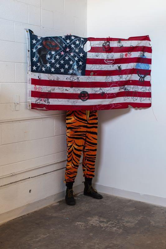 André Ramos-Woodard, Untitled (Amerikkkan Flag), 2021