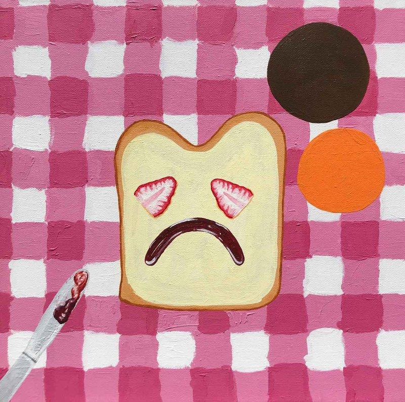 Artist Kim Kyne's campy, bubblegum-colored works are pure, uncut sugar, designed to sweeten bitter medicine.